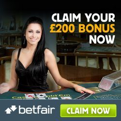 Betfair Casino Bonus Code